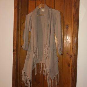Sweaters - Shae Fringe Open Cardigan